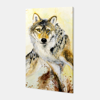 Miniatur Totem Wolf Canvas, Live Heroes