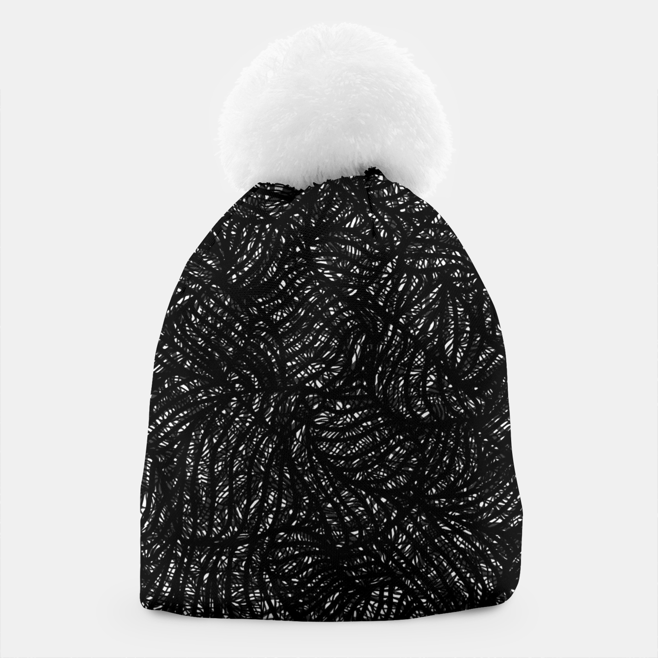 Image of zwart wit Beanie - Live Heroes