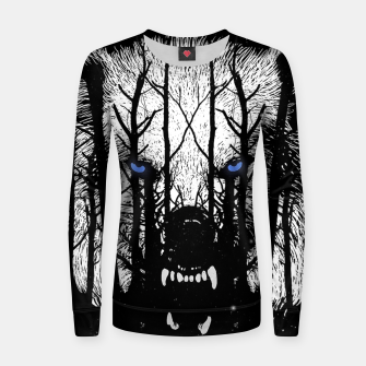 Miniature de image de Winter Wolf Women sweater, Live Heroes