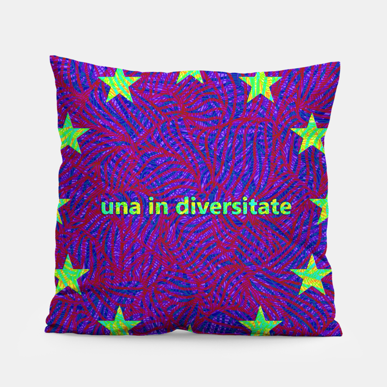 Image of una in diversitate Pillow - Live Heroes