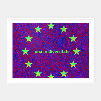 Thumbnail image of una in diversitate Framed poster, Live Heroes