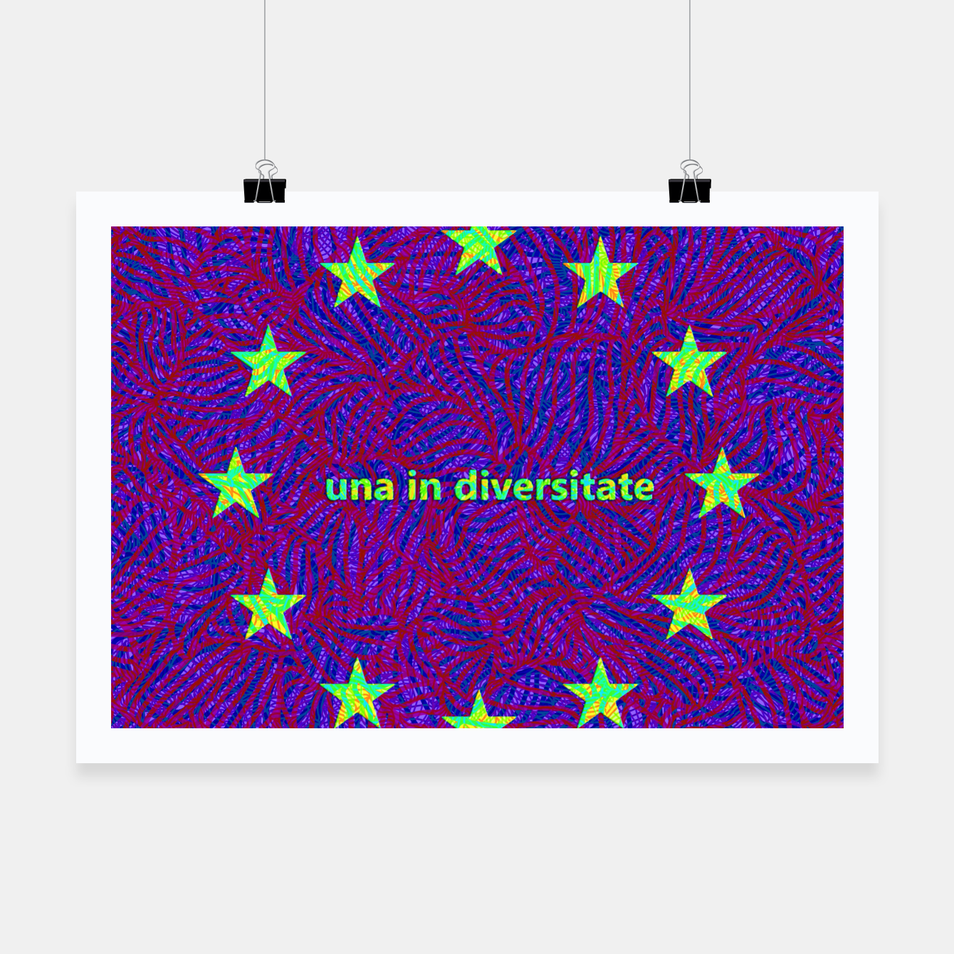 Image of una in diversitate Poster - Live Heroes