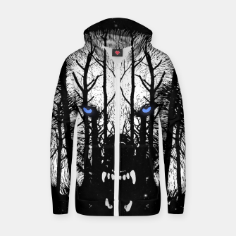 Winter Wolf Zip up hoodie miniature