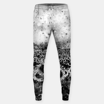 Thumbnail image of abstract sunflowers wsbw Sweatpants, Live Heroes