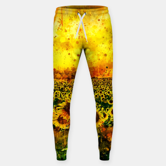 Thumbnail image of abstract sunflowers wsstd Sweatpants, Live Heroes