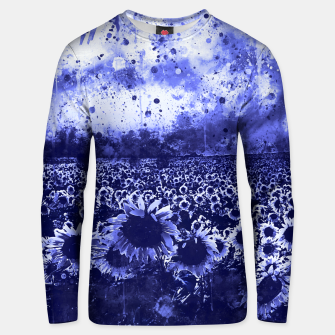 abstract sunflowers wsdb Unisex sweater miniature
