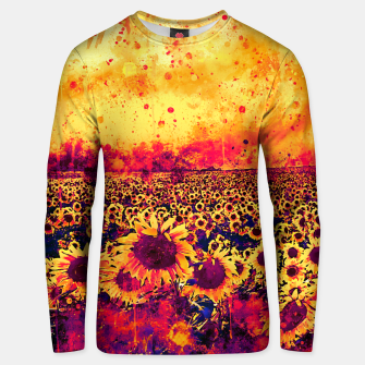 abstract sunflowers wslsh Unisex sweater thumbnail image