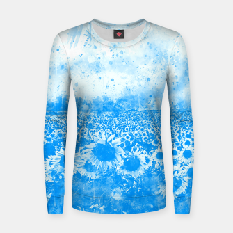 abstract sunflowers wswb Women sweater thumbnail image
