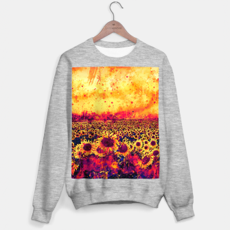 abstract sunflowers wslsh Sweater regular thumbnail image