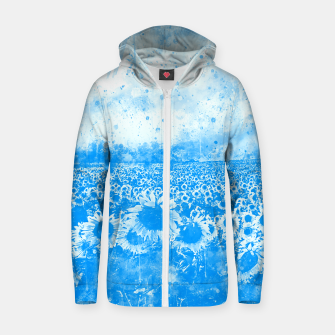 abstract sunflowers wswb Zip up hoodie thumbnail image