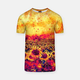 abstract sunflowers wslsh T-shirt thumbnail image