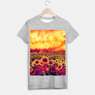 abstract sunflowers wslsh T-shirt regular thumbnail image