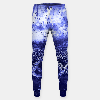 abstract sunflowers wsdb Sweatpants miniature