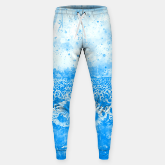 abstract sunflowers wswb Sweatpants thumbnail image