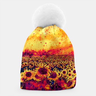 abstract sunflowers wslsh Beanie thumbnail image