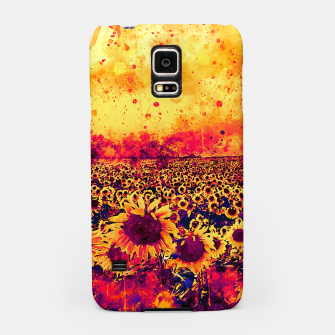 abstract sunflowers wslsh Samsung Case thumbnail image