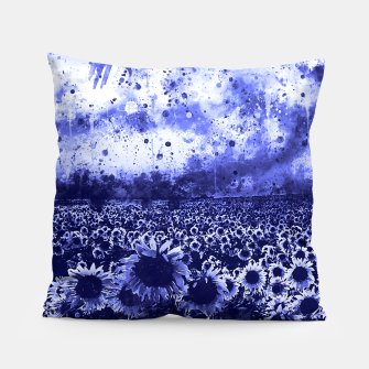 abstract sunflowers wsdb Pillow miniature