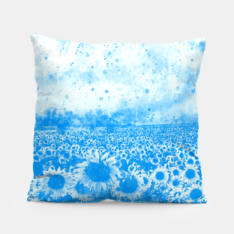 abstract sunflowers wswb Pillow thumbnail image