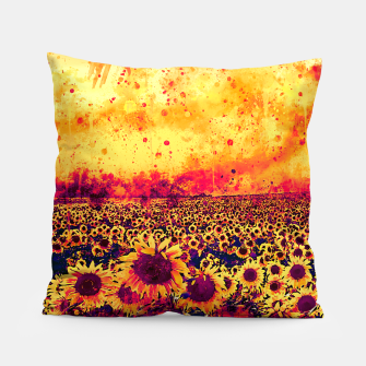 abstract sunflowers wslsh Pillow thumbnail image