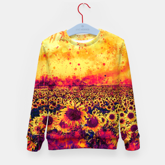 abstract sunflowers wslsh Kid's sweater thumbnail image