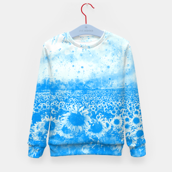 abstract sunflowers wswb Kid's sweater thumbnail image