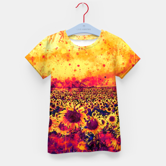 abstract sunflowers wslsh Kid's t-shirt thumbnail image