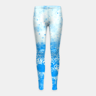 abstract sunflowers wswb Girl's leggings thumbnail image