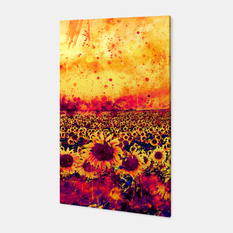 abstract sunflowers wslsh Canvas thumbnail image