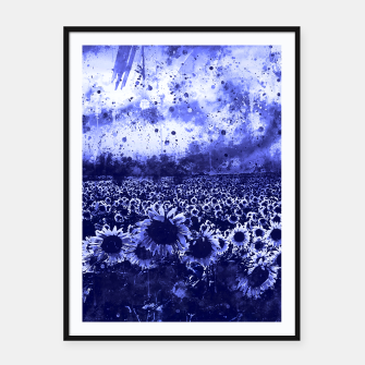 abstract sunflowers wsdb Framed poster miniature