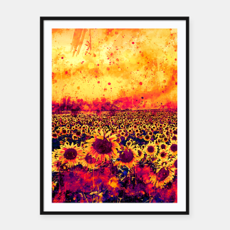 abstract sunflowers wslsh Framed poster thumbnail image