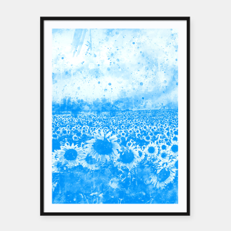 abstract sunflowers wswb Framed poster thumbnail image