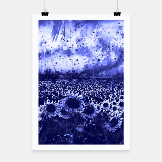 abstract sunflowers wsdb Poster miniature