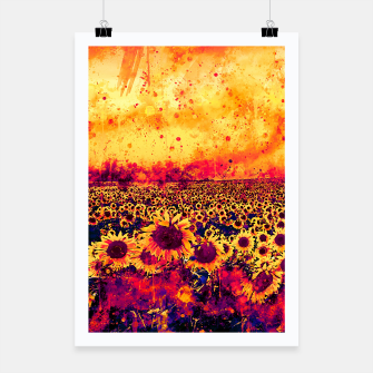 abstract sunflowers wslsh Poster thumbnail image