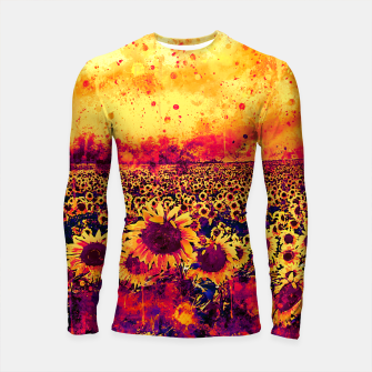 abstract sunflowers wslsh Longsleeve rashguard  thumbnail image
