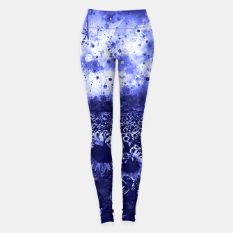 abstract sunflowers wsdb Leggings miniature