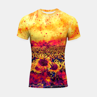 abstract sunflowers wslsh Shortsleeve rashguard thumbnail image