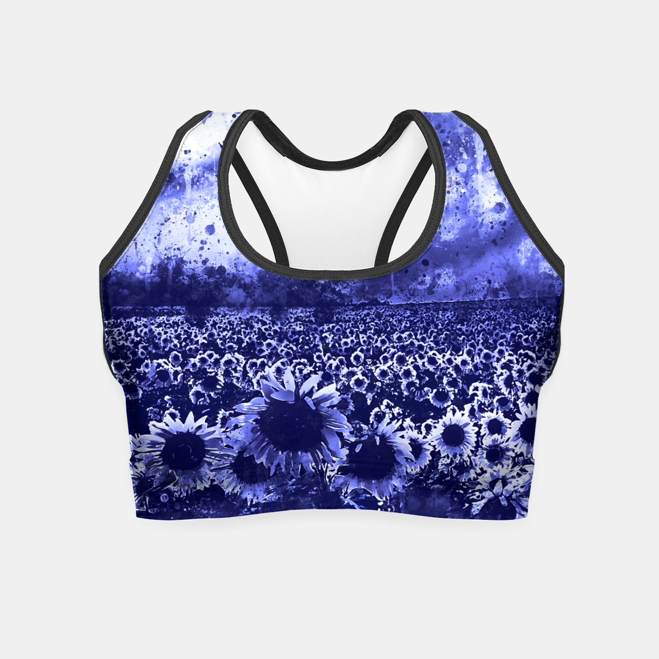 Image of abstract sunflowers wsdb Crop Top - Live Heroes