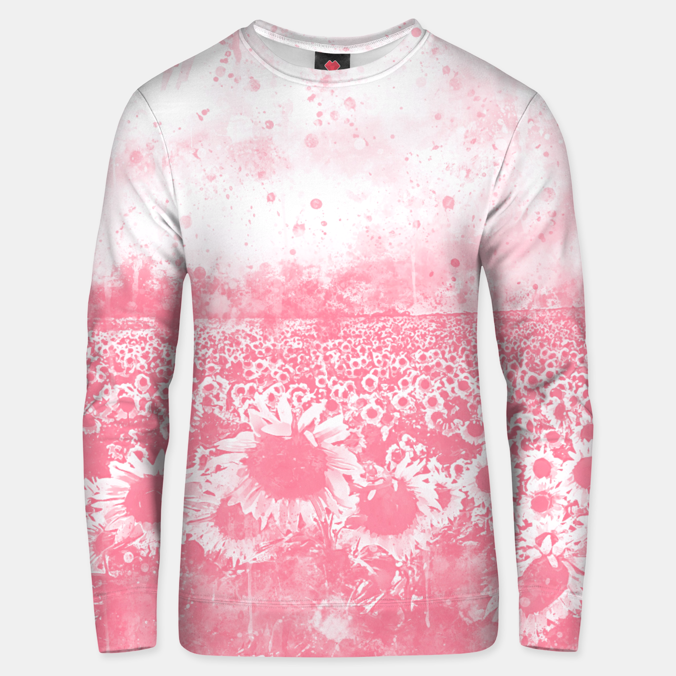 Image of abstract sunflowers wspw Unisex sweater - Live Heroes