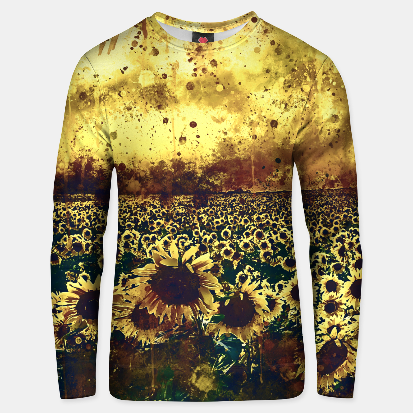 Image of abstract sunflowers wsfn Unisex sweater - Live Heroes