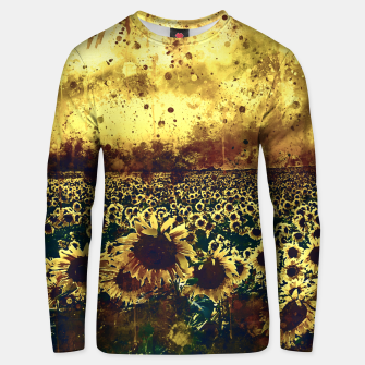 abstract sunflowers wsfn Unisex sweater miniature