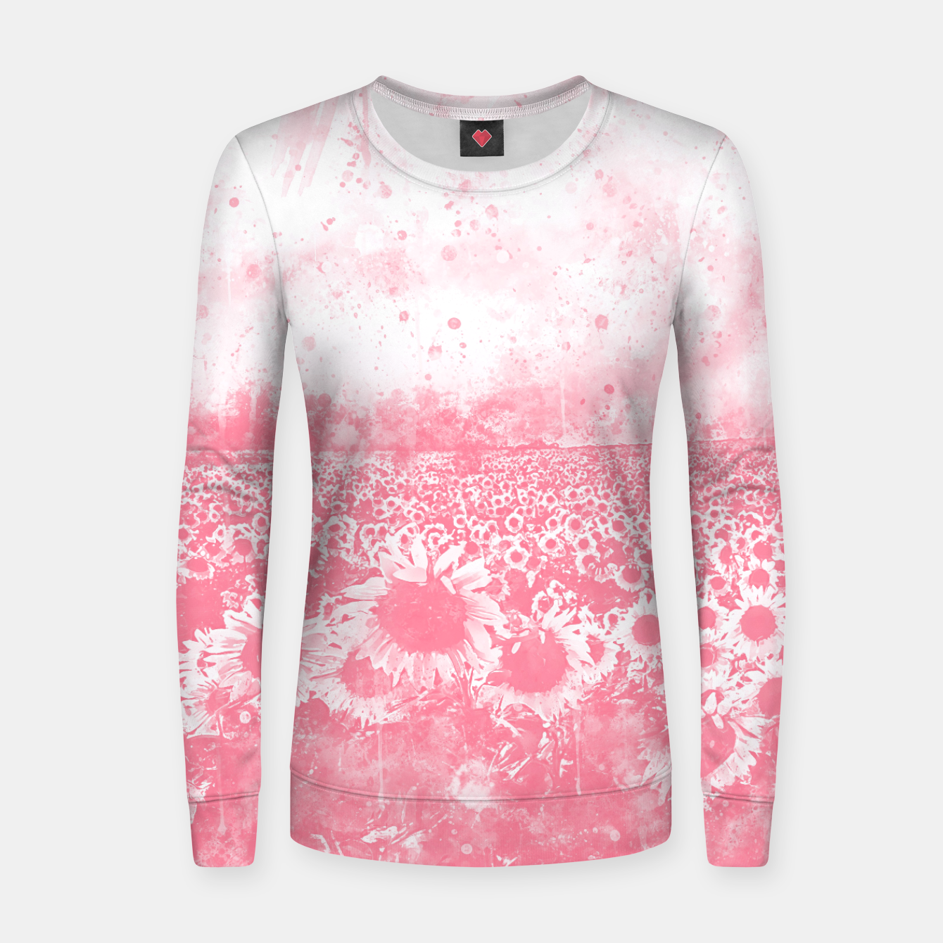 Image of abstract sunflowers wspw Women sweater - Live Heroes