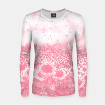 abstract sunflowers wspw Women sweater thumbnail image
