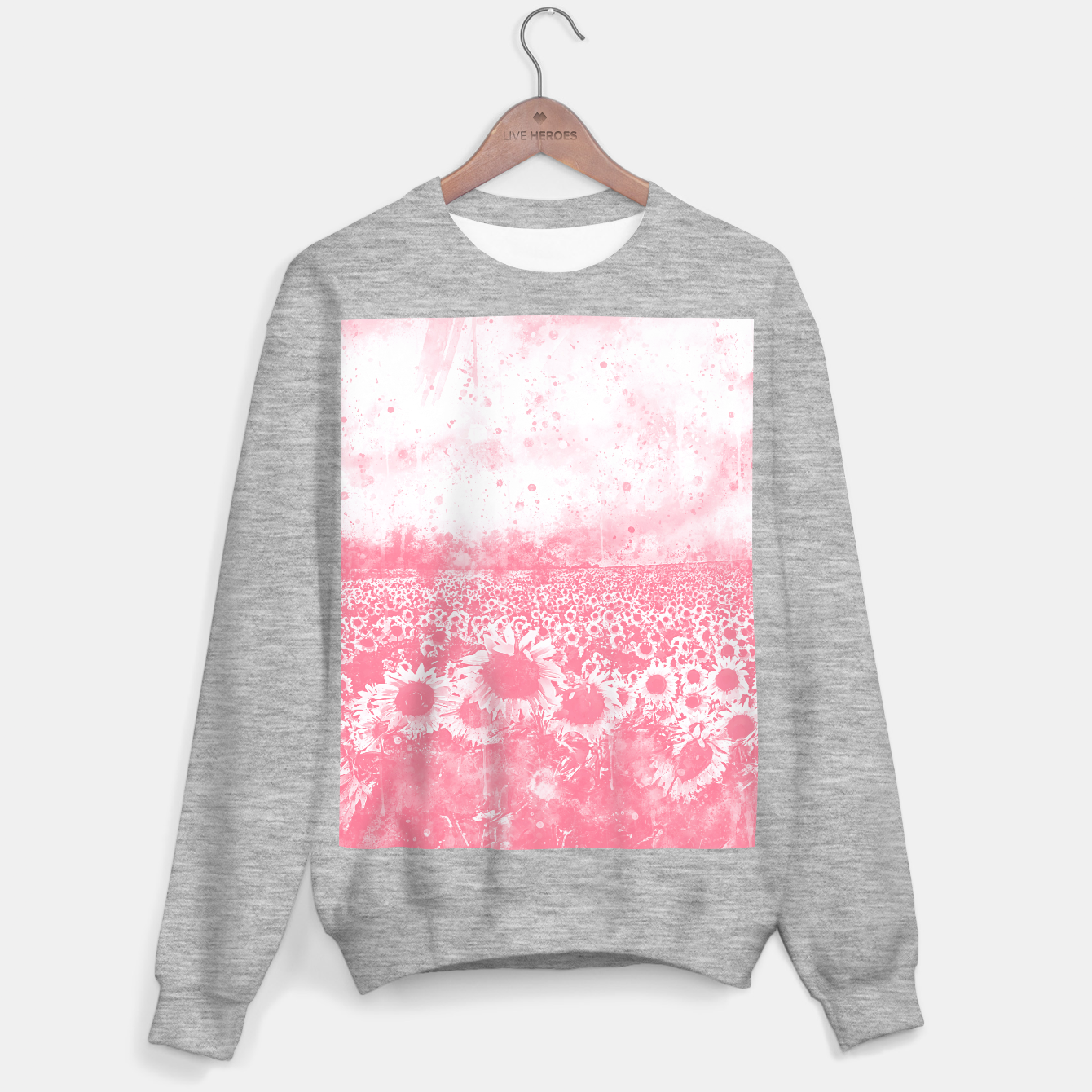 Image of abstract sunflowers wspw Sweater regular - Live Heroes
