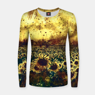 Miniature de image de abstract sunflowers wsfn Women sweater, Live Heroes