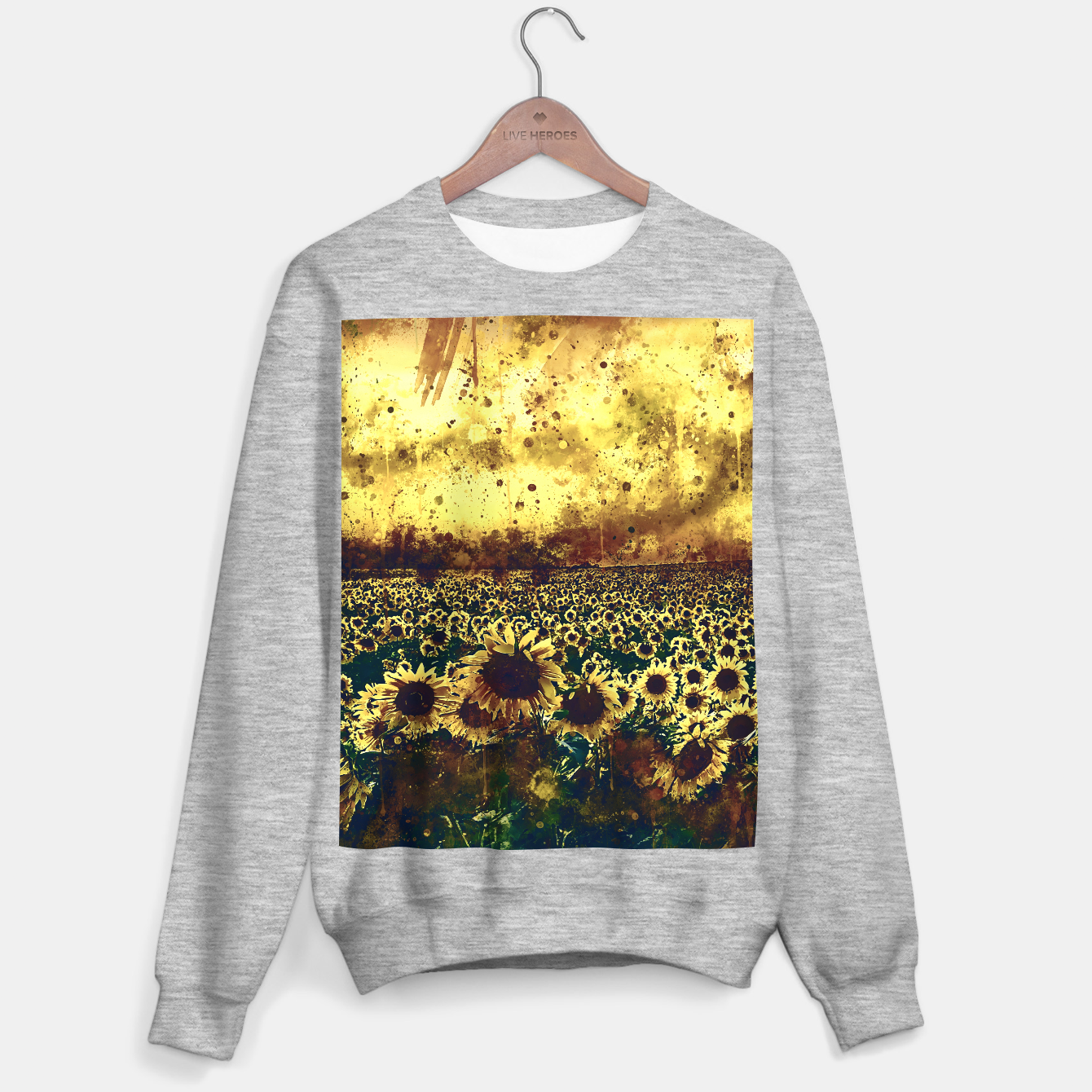 Image of abstract sunflowers wsfn Sweater regular - Live Heroes