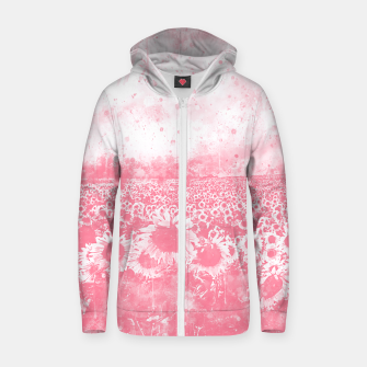 abstract sunflowers wspw Zip up hoodie thumbnail image