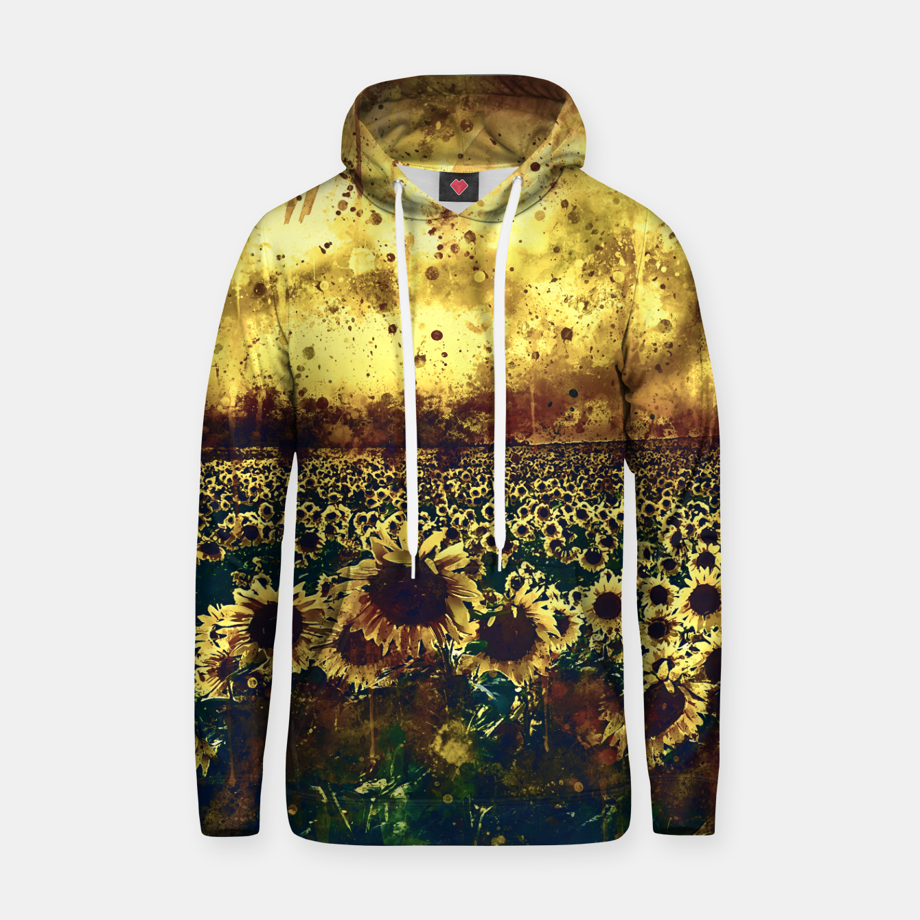 Image of abstract sunflowers wsfn Hoodie - Live Heroes