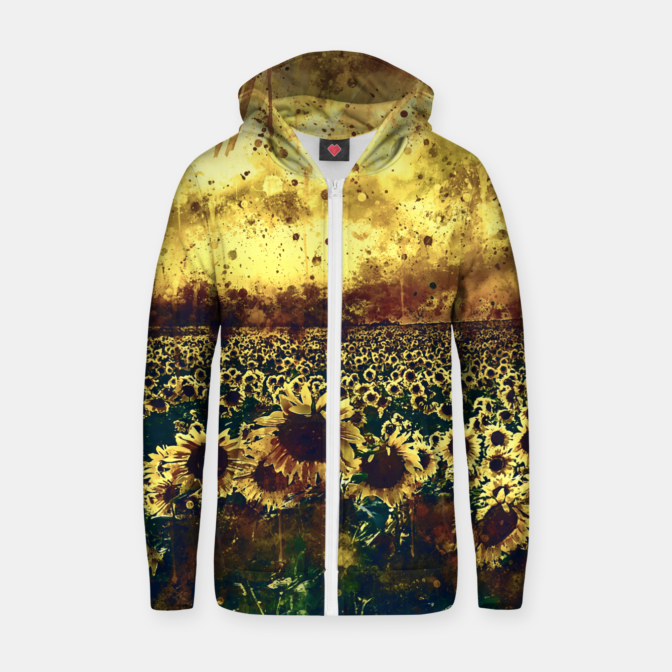 Image of abstract sunflowers wsfn Zip up hoodie - Live Heroes
