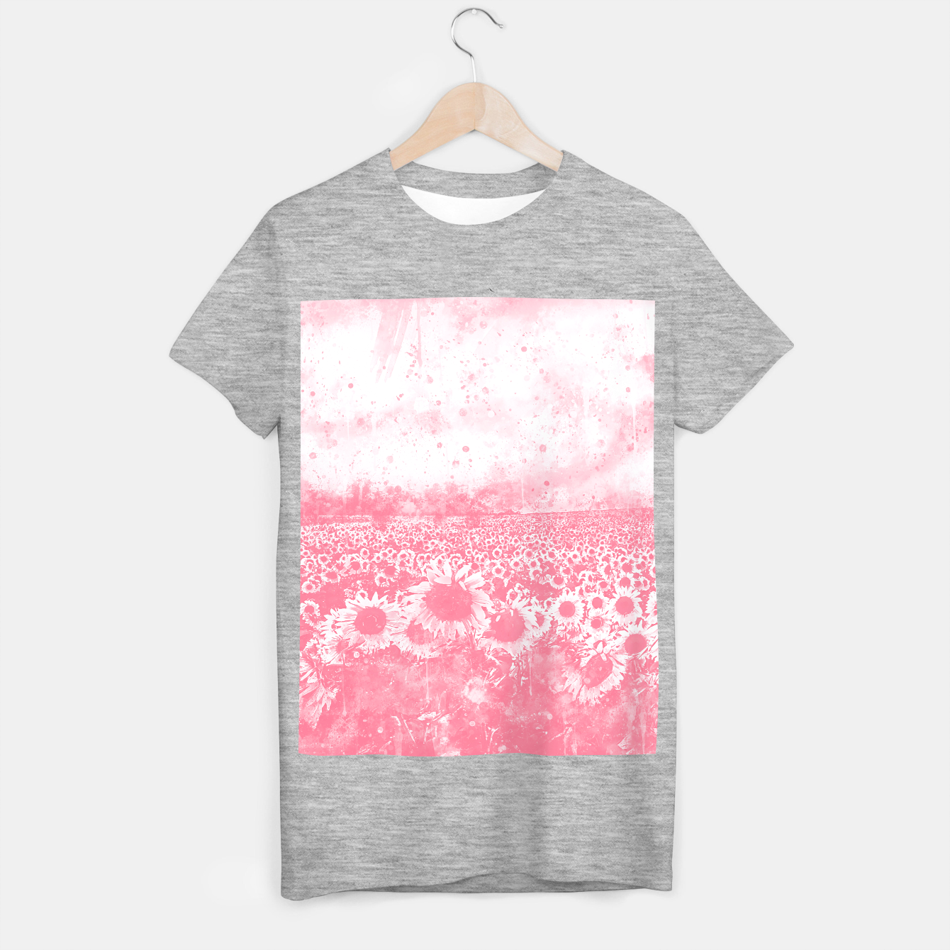 Image of abstract sunflowers wspw T-shirt regular - Live Heroes