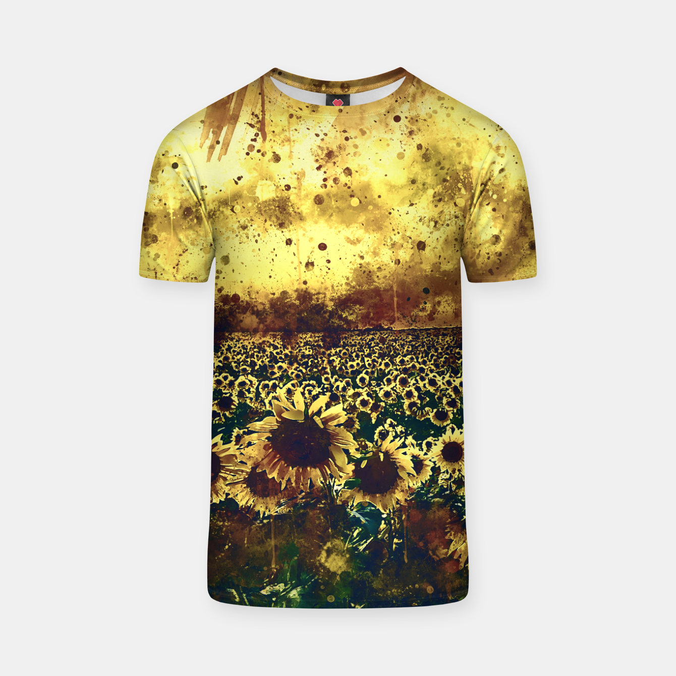 Image of abstract sunflowers wsfn T-shirt - Live Heroes